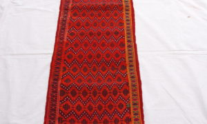 Belouch runner hand woven and knotted wool on wool 20-30 years old 2.16 x 0.47 $695