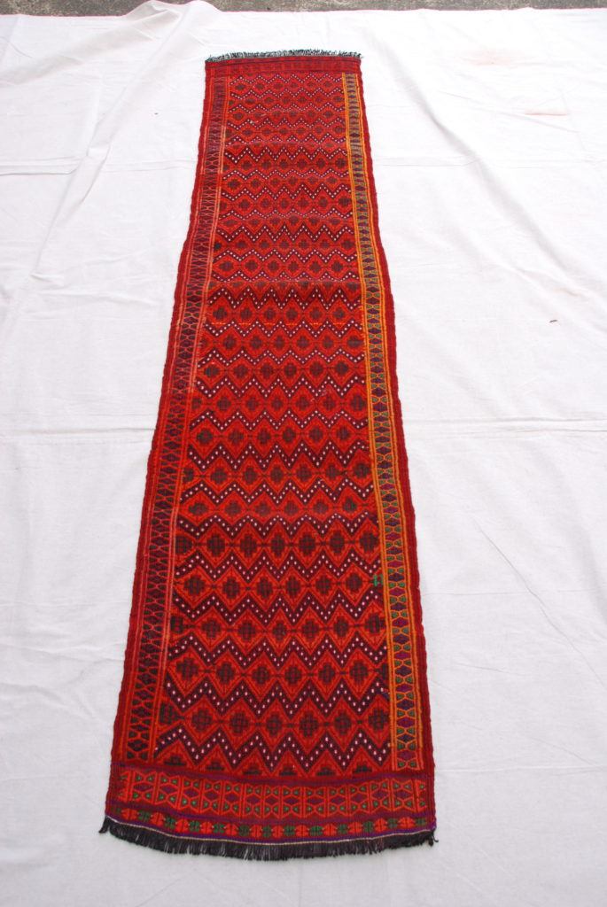 Belouch runner hand woven wool on wool 20-30 years old 2.16 x 0.47 $695