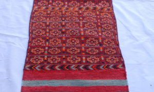 Hand knotted and woven wool on wool North Iranian Besich carpet 50-60 years old 1.95 x 0.58 $575.00
