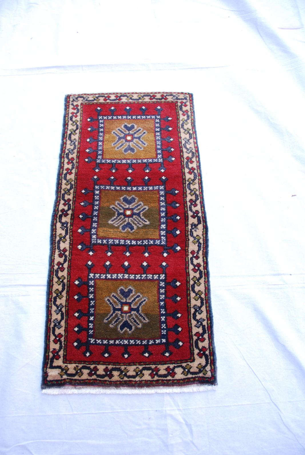Adana Nomadic Turkish wool on wool carpet approximately 50 years old 1.02 x 0.48 $295.