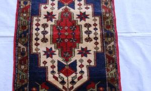 Turkish wool on wool carpet from Tashpinar 40 years old 0.95 x 0.58 $295