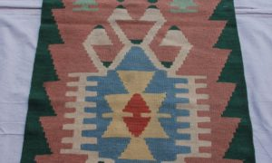Turkish Kayseri hand knotted wool on wool kilim 20-30 years old 1.69 x 0.61 $245