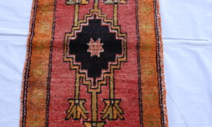 Kurdish Malatyer hand knotted wool on wool carpet 70 years old 1.00 x 0.57 $295