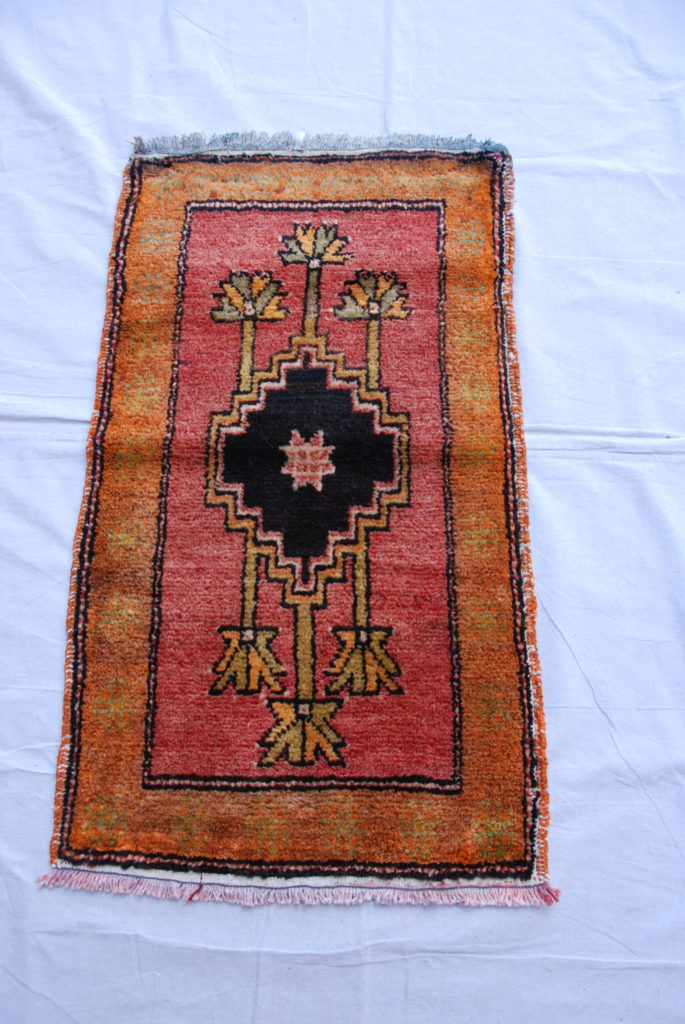 Kurdish Malatyer hand hand woven and knotted wool on wool carpet 70 years old 1.00 x 0.57 $295