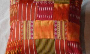 C202 Turkish Antique Silk Patchwork Cushion