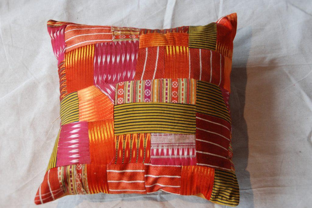 C203 Turkish Antique Silk Patchwork Cushion