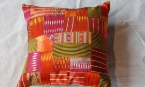 C203 Turkish Antique Silk Patchwork Cushion