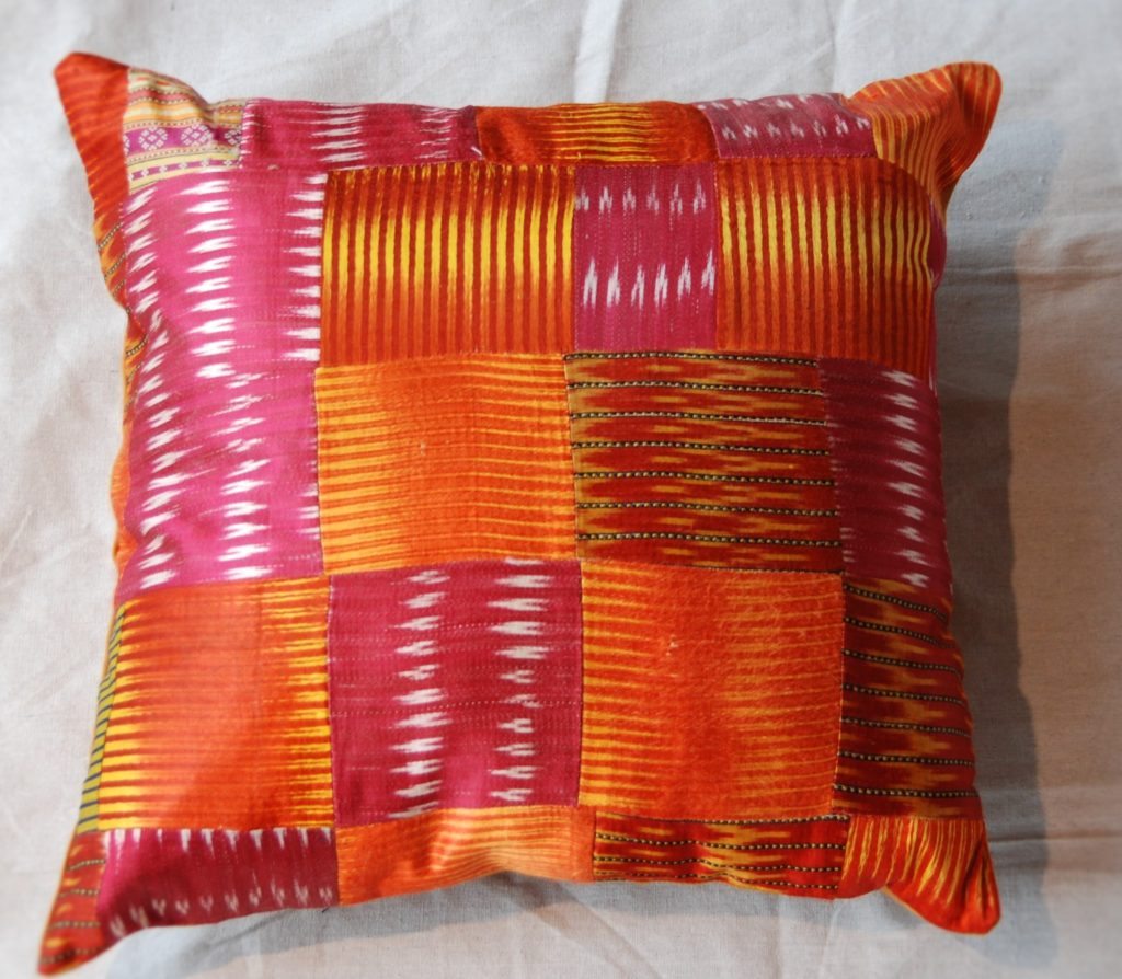 C204 Turkish Antique Silk Patchwork Cushion