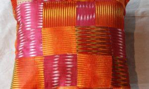 C204 Turkish Antique Silk Patchwork Cushion
