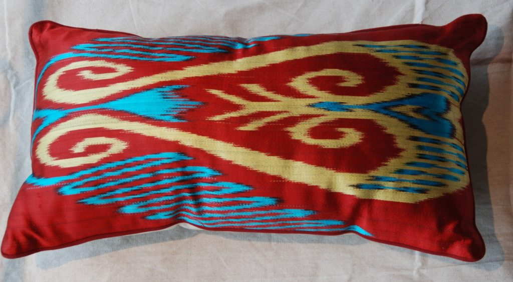 C206 Turkish Silk Ikat Cushion