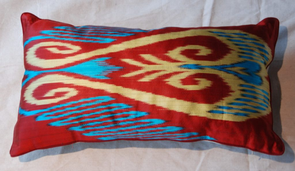 C207 Turkish Silk Ikat Cushion