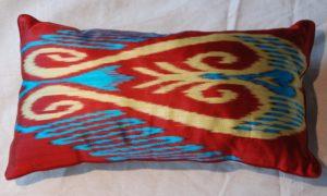 C207 Turkish Silk Ikat Cushion
