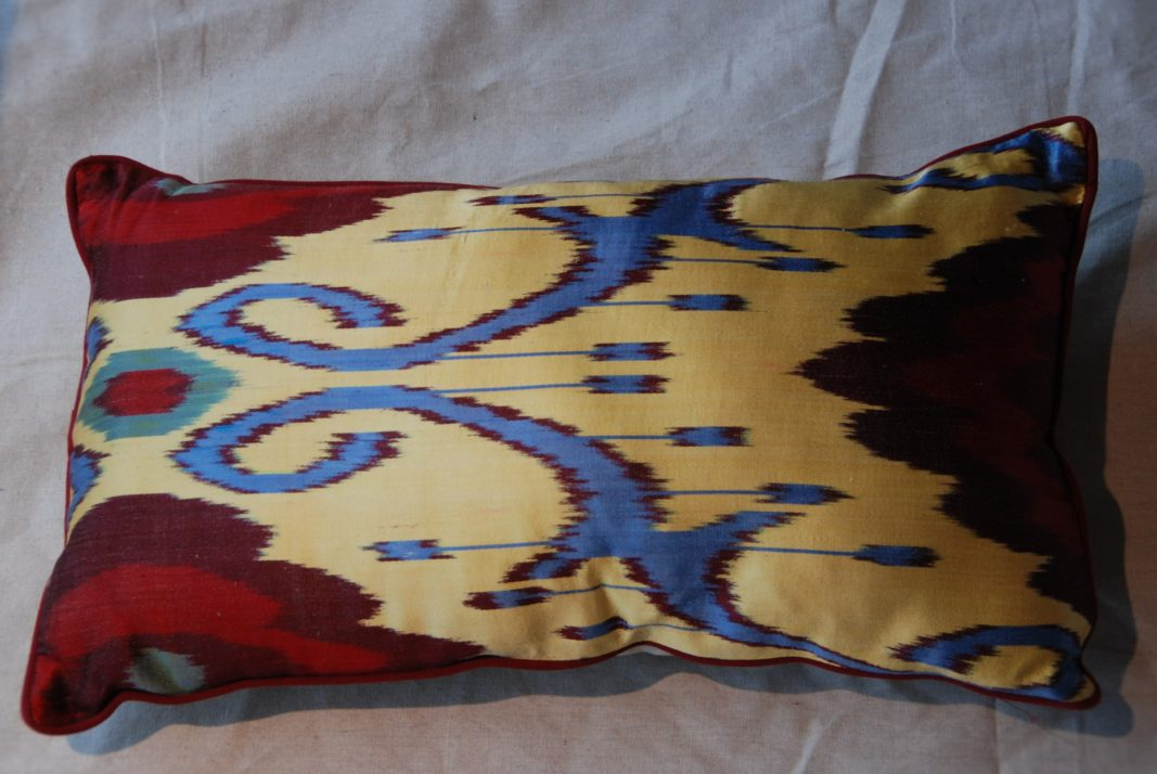C208 Turkish Silk Ikat Cushion