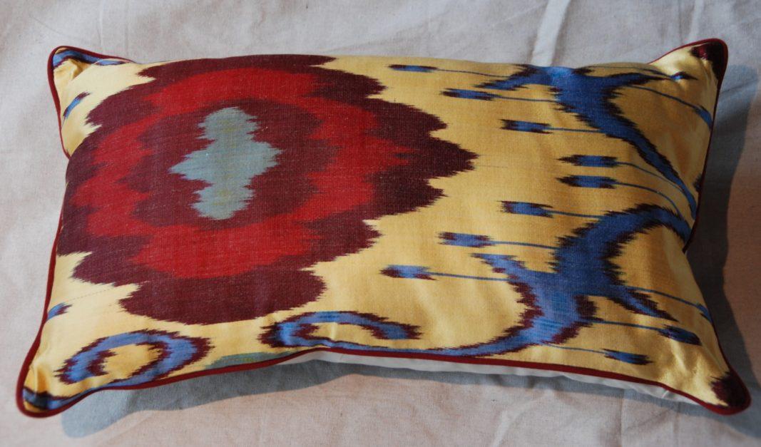 C209 Turkish Silk Ikat Cushion